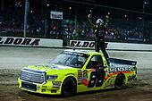 NASCAR Camping World Truck Series<br /> Eldora Dirt Derby<br /> Eldora Speedway, Rossburg, OH USA<br /> Wednesday 19 July 2017<br /> Matt Crafton, Ideal Door / Menards Toyota Tundra celebrates<br /> World Copyright: Barry Cantrell<br /> LAT Images