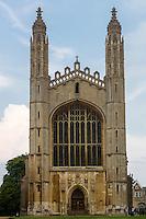 UK, England, Cambridge.  King's College Chapel.