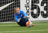 20160405  - Eibergen , NETHERLANDS : Finland's Henriikka Mäkelä pictured during the soccer match between the women under 19 teams of Finland and Belarus , on the first matchday in group 3 of the UEFA Women Under19 Elite rounds in Eibergen , Netherlands. Tuesday 5 th April 2016 . PHOTO DIRK VUYLSTEKE / Sportpix.be