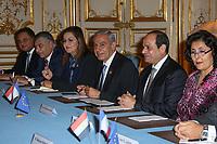 ABDEL FATTAH AL-SISSI - LE PREMIER MINISTRE EDOUARD PHILIPPE RECOIT LE PRESIDENT EGYPTIEN ABDEL FATTAH AL-SISSI A L'HOTEL DE MATIGNON, PARIS, FRANCE, LE 24/10/2017.