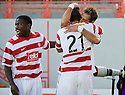 25/09/2010   Copyright  Pic : James Stewart.sct_jsp006_hamilton_v_kilmarnock  .::  FLAVIO PAIXAO CELEBRATES WITH HIS BROTHER MARCO (21) AFTER HE HEADS HOME ACCIES FIRST GOAL  ::.James Stewart Photography 19 Carronlea Drive, Falkirk. FK2 8DN      Vat Reg No. 607 6932 25.Telephone      : +44 (0)1324 570291 .Mobile              : +44 (0)7721 416997.E-mail  :  jim@jspa.co.uk.If you require further information then contact Jim Stewart on any of the numbers above.........