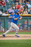 Luis Guillorme (13) of the Las Vegas 51s bats against the Salt Lake Bees at Smith's Ballpark on May 7, 2018 in Salt Lake City, Utah. The 51s defeated the Bees 10-8. (Stephen Smith/Four Seam Images)