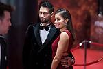 Jesus Castro and Hiba Abouk attends red carpet of Goya Cinema Awards 2018 at Madrid Marriott Auditorium in Madrid , Spain. February 03, 2018. (ALTERPHOTOS/Borja B.Hojas)