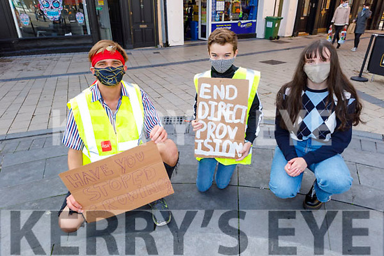 The organisers of the Black Lives Matter protest in Tralee on Saturday. L to r: Namejs Balodis, Ben McCannon and Rachel O'Shea.