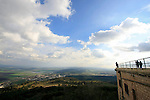Israel, Mount Carmel. The view of Jezreel valley from the Carmelite Sanctuary and Convent at the Muhraka