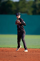 Ali Camarillo (5) during the WWBA World Championship at Terry Park on October 10, 2020 in Fort Myers, Florida.  Ali Camarillo, a resident of Chula Vista, California who attends Otay Ranch High School, is committed to Cal State Northridge.  (Mike Janes/Four Seam Images)