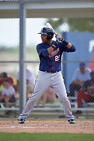 Minnesota Twins Amaurys Minier (25) during a minor league Spring Training intrasquad game on March 15, 2016 at CenturyLink Sports Complex in Fort Myers, Florida.  (Mike Janes/Four Seam Images)