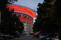 Erleuchtetes Stadion - Frankfurt 16.09.2021: Eintracht Frankfurt vs. Fenerbahce Istanbul, Deutsche Bank Park, 1. Spieltag UEFA Europa League