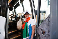 6th September 2021: Toledo, Ohio, USA;  Leona Maguire of Team Europe boards the team bus after winning the Solheim Cup on September 6, 2021 at Inverness Club in Toledo, Ohio.