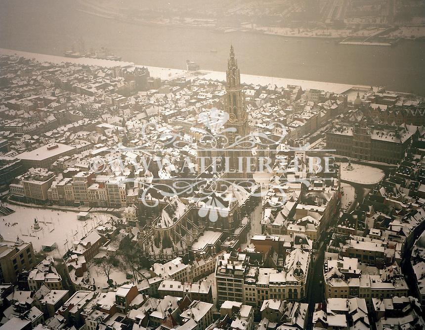 Februari 1994. Sneeuw in Antwerpen.