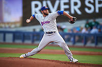 Midland RockHounds pitcher Chris Jensen (33) delivers a pitch during a game against the Tulsa Drillers on June 2, 2015 at Oneok Field in Tulsa, Oklahoma.  Midland defeated Tulsa 6-5.  (Mike Janes/Four Seam Images)