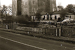 Durty Nelly's and Bunratty Castle - January 1982. Photograph by Liam McGrath