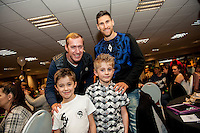 Tuesday  15 December 2015<br /> Pictured: Gerhard Tremmel and Federico Fernandez<br /> Re: Kids SCFC Christmas Party at the Liberty Stadium, Swansea