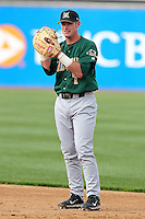 Lynchburg Hillcats first baseman Joseph Terdoslavich #7 during a game against the Wilmington Blue Rocks at Frawley Stadium on May 3, 2011 in Wilmington, Delaware.  Lynchburg defeated Wilmington by the score of 11-1.  Photo By Mike Janes/Four Seam Images