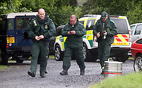 Pictured: Mountain Rescue Team at Tafarn Y Garreg, Powys, Wales UK. Wednesday 29 June 2016<br />Re: Rescuers have found a number of the 24 children who went missing the Brecon Beacons.<br />Dyfed-Powys Police said a Coastguard helicopter had found some the children, who are from St Albans, Hertfordshire.<br />The helicopter has landed and the crew are with the children, but their condition is not known.<br />The alarm was raised at about 13:00 BST after the groups went missing around Llyn y Fan Fach, near Abercraf.<br />The children are in their mid teens and were on the beacons as part of their Duke of Edinburgh Award.<br />Mark Moran from Central Beacons Mountain Rescue said his team had been in intermittent phone contact with the four groups of six children before the first group were found.