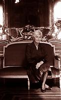 Susanna Agnelli, Contessa Rattazzi, Cavaliere di Gran Croce OMRI (24 April 1922 – 15 May 2009) was an Italian politician, businesswoman and writer. Milan 14 june 1990. © Leonnardo Cendamo