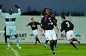 01/01/2005  Copyright Pic : James Stewart.File Name : jspa01_falkirk_v_raith-rovers.RUSSELL LATAPY CELEBRATES SCORING FALKIRK'S FIRST....Payments to :.James Stewart Photo Agency 19 Carronlea Drive, Falkirk. FK2 8DN      Vat Reg No. 607 6932 25.Office     : +44 (0)1324 570906     .Mobile   : +44 (0)7721 416997.Fax         : +44 (0)1324 570906.E-mail  :  jim@jspa.co.uk.If you require further information then contact Jim Stewart on any of the numbers above.........