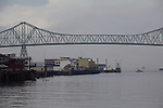 Astoria, Astoria Bridge, waterfront, fishing boat, Columbia river, North America, Oregon State, Pacific Northwest, rivers, ships, United States, Oregon Coast,