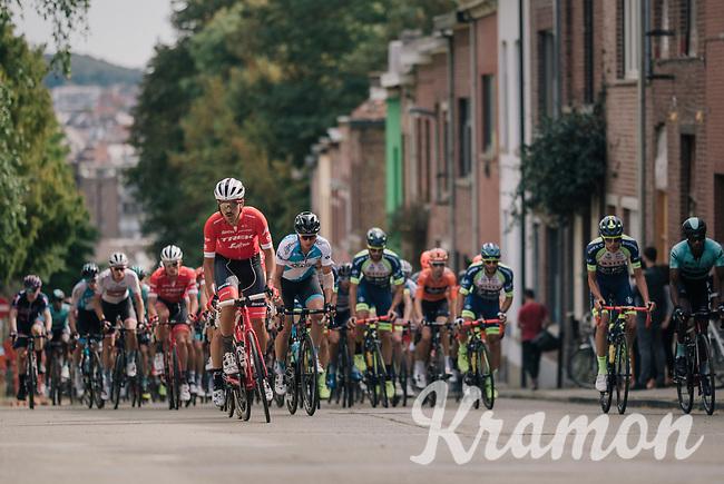 Eugenio Alafaci (ITA/Trek-Segafredo) up the steep Ridderstraat <br /> <br /> 52nd GP Jef Scherens - Rondom Leuven 2018 (1.HC)<br /> 1 Day Race: Leuven to Leuven (186km/BEL)