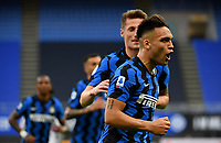 Inter Milan's Lautaro Martinez celebrates after scoring on a penalty kick during the Italian Serie A football match between Inter Milan and Sampdoria at Milan's Giuseppe Meazza stadium, May 8, 2021.<br /> UPDATE IMAGES PRESS/Isabella Bonotto