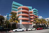 Beautiful Art Deco Building, Miami Beach, Florida, FL, USA.