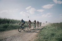 over a gravel section<br /> <br /> 92nd Schaal Sels 2017 <br /> 1 Day Race: Merksem > Merksem (188km)