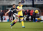 Dundee v St Johnstone….31.12.16     Dens Park    SPFL<br />Paul McGowan shoots for goal<br />Picture by Graeme Hart.<br />Copyright Perthshire Picture Agency<br />Tel: 01738 623350  Mobile: 07990 594431