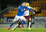 St Johnstone v Motherwell…..12.02.20   McDiarmid Park   SPFL<br />Drey Wright and Jake Carroll<br />Picture by Graeme Hart.<br />Copyright Perthshire Picture Agency<br />Tel: 01738 623350  Mobile: 07990 594431