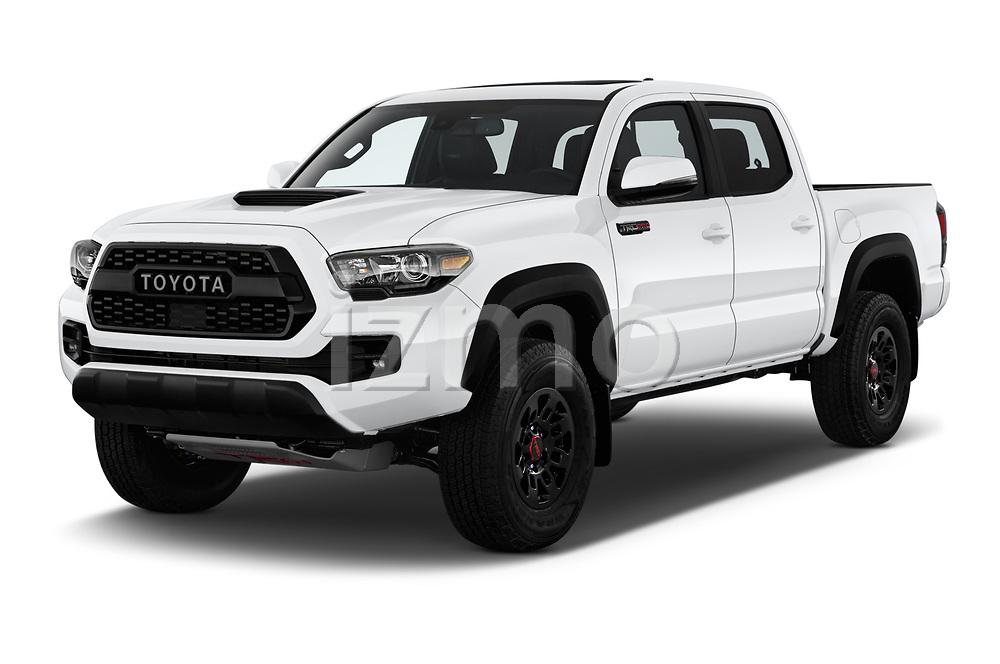 2019 Toyota Tacoma TRD Pro 4 Door Pick Up angular front stock photos of front three quarter view