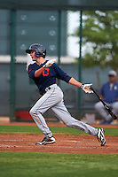 Cleveland Indians Tyler Krieger (17) during an instructional league game against the Los Angeles Dodgers on October 15, 2015 at the Goodyear Ballpark Complex in Goodyear, Arizona.  (Mike Janes/Four Seam Images)