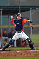 Illinois Fighting Illini catcher Alex Lincoln #16 throws to second during a game against the Notre Dame Fighting Irish at the Big Ten/Big East Challenge at Walter Fuller Complex on February 17, 2012 in St. Petersburg, Florida.  (Mike Janes/Four Seam Images)