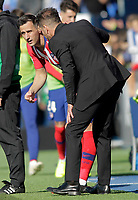 Atletico de Madrid's coach Diego Pablo Cholo Simeone (r) with Nikola Kalinic during La Liga match. November 3,2018. (ALTERPHOTOS/Acero)<br /> Liga Campionato Spagna 2018/2019<br /> Foto Alterphotos / Insidefoto <br /> ITALY ONLY