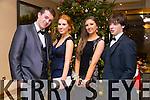 David O'Dowd, Lauren Costello, Sinead Hilliard, Jack Nix enjoying the Castlegregory Secondary School Debs at the Brandon Hotel on Saturday