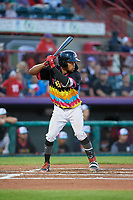 Erie Piñatas Jose Azocar (24) at bat during an Eastern League game against the Las Ardillas Voladoras de Richmond on August 28, 2019 at UPMC Park in Erie, Pennsylvania.  Richmond defeated Erie 4-3 in the second game of a doubleheader.  (Mike Janes/Four Seam Images)