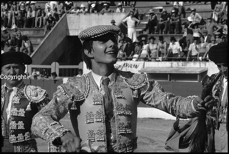 13 Juin 1976. Vue du torero Nimeno II dans les arènes de Toulouse.