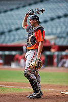 San Francisco Giants Cody Brickhouse (7) during an instructional league game against the Arizona Diamondbacks on October 16, 2015 at the Chase Field in Phoenix, Arizona.  (Mike Janes/Four Seam Images)