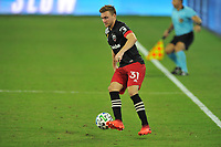 WASHINGTON, DC - SEPTEMBER 12: Julian Gressel #31 of D.C. United moves the ball during a game between New York Red Bulls and D.C. United at Audi Field on September 12, 2020 in Washington, DC.