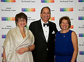 Valerie Jarrett, Neil Cohen, and Susan Sher arrive for the formal Artist's Dinner honoring the recipients of the 40th Annual Kennedy Center Honors hosted by United States Secretary of State Rex Tillerson at the US Department of State in Washington, D.C. on Saturday, December 2, 2017. The 2017 honorees are: American dancer and choreographer Carmen de Lavallade; Cuban American singer-songwriter and actress Gloria Estefan; American hip hop artist and entertainment icon LL COOL J; American television writer and producer Norman Lear; and American musician and record producer Lionel Richie.  <br /> Credit: Ron Sachs / Pool via CNP
