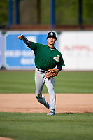 Clinton LumberKings second baseman Bryson Brigman (8) during practice before a game against the West Michigan Whitecaps on May 3, 2017 at Fifth Third Ballpark in Comstock Park, Michigan.  West Michigan defeated Clinton 3-2.  (Mike Janes/Four Seam Images)