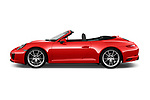 Car driver side profile view of a 2017 Porsche 911 Carrera 2 Door Convertible