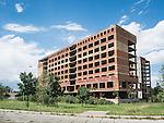 Abandoned masonry high-rise building, Montana, Bulgaria