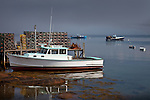 A quiet moment in the fishing village of Jonesport, Downeast ME, USA