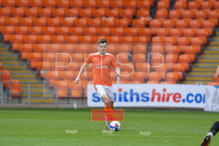 09/05/2021 Sky Bet League 1 Blackpool v Bristol Rovers  <br /> <br /> Jordan Thorniley in action for Blackpool