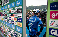 Remco Evenepoel (BEL/Deceuninck-Quick Step) at the race start in Como<br /> <br /> 115th Il Lombardia 2021 (1.UWT)<br /> One day race from Como to Bergamo (ITA/239km)<br /> <br /> ©kramon