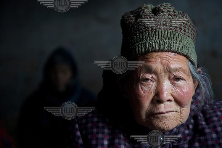 An elderly villager.