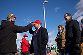 Scranton, Pennsylvania<br /> November 2, 2020<br /> <br /> Trump supporters come out en masse for one of his final campaign rallies of the 2020 election cycle at the Wilkes-Barre/Scranton International Airport. <br /> <br /> Decked out in deep red and blue they remain ferociously impassioned that he must remain in office for at least another 4-years.