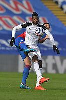 André-Frank Zambo Anguissa of Fulham battles with Luka Milivojević of Crystal Palace during the Premier League behind closed doors match between Crystal Palace and Fulham at Selhurst Park, London, England on 28 February 2021. Photo by Vince Mignott / PRiME Media Images.