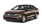 2015 Volkswagen Jetta 2.5L SEL 4 Door Sedan Angular Front stock photos of front three quarter view