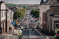 Neutralised peloton in/around Barrow-in-Furness<br /> <br /> Stage 6: Barrow-in-Furness to Whinlatter Pass   (168km)<br /> 15th Ovo Energy Tour of Britain 2018