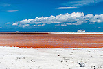 Salt production in Christmas Island (Kiritimati), Kiribati
